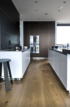bulthaup kitchen and Dinesen HeartOak flooring - if going for oak this is a nice shade