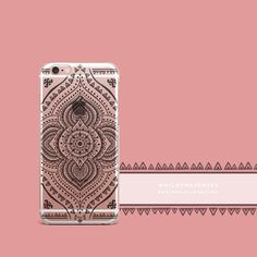 'Black Opulent Mandala' - Clear TPU Case Cover – Milkyway