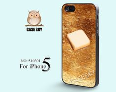 iPhone 5 Case, Toast with Butter, iPhone Case, Plastic Phone Cases, Case for iPhone-510301 on Etsy, $9.99