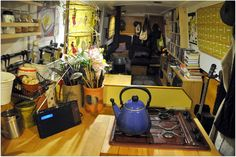 Narrowboat Kitchen, Narrowboat Interiors, Canal Barge, Canal Boat, Small Space Design, Small Spaces, Barge Interior, Future Goals, Boat Building