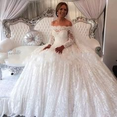 Real Photos Wedding Dresses Vintage 2017 New Arrival Handmade 3D Flowers Ivory Lace Puffy Sexy Arabic Vintage Amazing Wedding Bridal Dresses Real Photo Wedding Dress Ball Gown Vintage Ball Gown Wedding Dress 3d Flowers Lace Puffy Wedding Dress Online with $519.8/Piece on Faisata's Store | DHgate.com