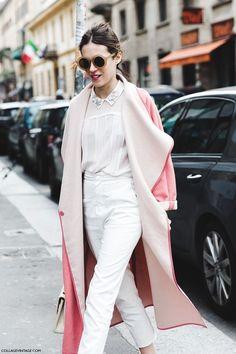 淡色スタイル パステルピンク コート
