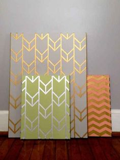 Gold Stenciled Canvas