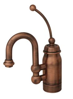 Whitehaus Baby Horizon Single Handle Faucet in Antique Copper Bidet Faucets, Small Sink, Plumbing Fixtures, Handle, Single Handle Faucet, Whitehaus Collection, Swivel, Kitchen Handles, Faucet