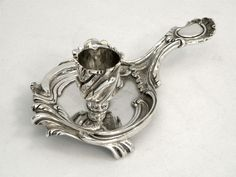 FRENCH ANTIQUE SILVER CHAMBERSTICK / CHAMBER STICK / CANDLE HOLDER c. 1820 www.antique-silver.co.uk John Bull Antiques New Bond Street, London, UK