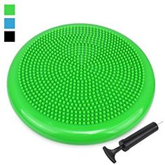 34cm Balance Cushion, Air Stability Wobble Cushion, Balance Board, TRIDEER Anti-Burst Fitness Stability Pad in Anti-Slip Surface, with Free Pump - for Improving Posture, Supports Muscle, Physical Therapy, Rehabilitation, Core Stability Training - Suitable for Men and Women, Available in 3 Colors(Blue, Purple, Green)