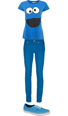 """""""Cookie Monster outfit"""" by ximenita-aguilar ❤ liked on Polyvore"""