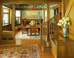 Last Trending Get all images craftsman home decor Viral craftsman decor with a tropical touch Craftsman Home Decor, Craftsman Dining Room, Craftsman Style Interiors, Craftsman Interior, Craftsman Style Homes, Craftsman Bungalows, Craftsman Ranch, Craftsman Farmhouse, Bungalow Interiors