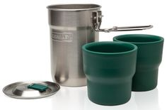 Stanley Adventure Camp Cook Set. Includes stainless cooker with vented lid and two nesting, insulated cups. I have this set and love it.