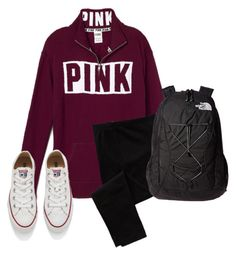 """Start school this wednesday"" by lydia-hh ❤ liked on Polyvore featuring Converse, Old Navy and The North Face"