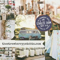 The Strawberry Patch Vintage Market, Sept 4-6, Hartsville  TN