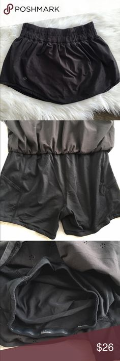 Lululemon skirt Good used condition has peeling on shorts as shown in pic.  Not really noticeable when wearing.  Has a ton of life left. lululemon athletica Shorts Skorts