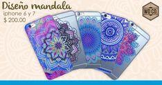 Fundas para celulares - diseño mandala - TPU $200