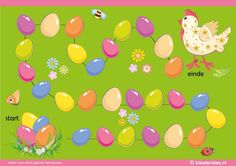 Het lente & kuiken spel voor kleuters, spelbord, kleuteridee.nl , The spring & chick game for preschool , gameboard, free printable. Easter Activities For Kids, Easter Games, Games For Kids, Diy For Kids, Easter Art, Hoppy Easter, Farm Theme, Birthday Party Games, Creative Kids