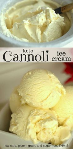 Keto Cannoli Ice Cream - I love cannoli cream. I could eat all the cream from all the cannolis and be content. Cannoli Ice Cream? Even better. Low Carb, Sugar Free, Gluten Free, THM S.
