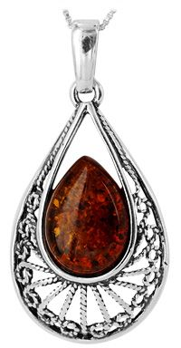 Empress Amber & Sterling Necklace at The Animal Rescue Site