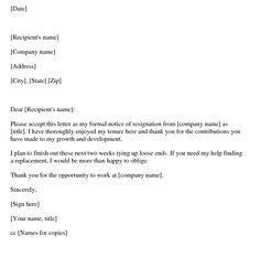 leaving job letter
