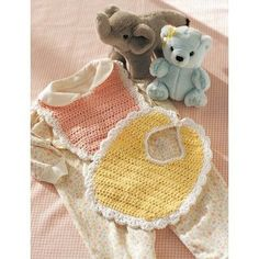 Baby Bib | Lily Sugar 'n Cream  Freen Pattern |  Easy Pattern |