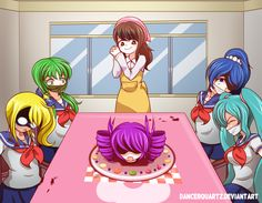 Yandere-Chan - Welcomes To Cooking Club! by DancerQuartz on DeviantArt