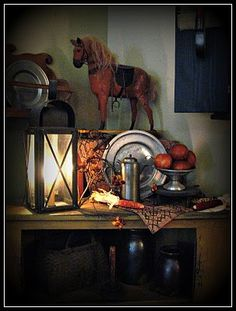 The Patriot Homeplace: ~Fall Vignettes & Apple Picking~