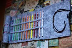 Borse e bijoux: DIY rotolo porta matite