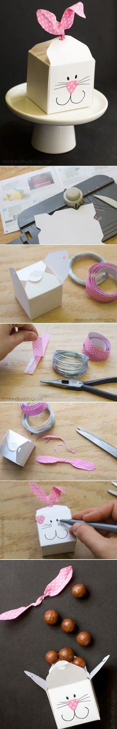 DIY Easter bunny Favor Boxes                                                                                                                                                                                 More