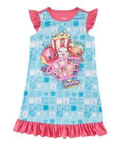 Another great find on #zulily! Shopkins Bunch Ruffle-Sleeve Nightgown - Girls #zulilyfinds