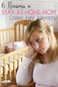 6 reasons a stay at home mom loses her identity. I totally feel like I'm a different person since I became a mom. Here's a great perspective on why some sahms lose their identity and how to change.