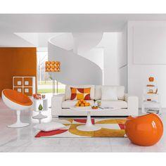 Sgabello arancio KAREN   Maisons du Monde
