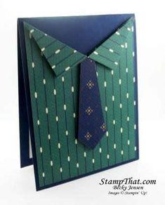 Man's Shirt Handmade Birthday Card - True Gentleman DSP