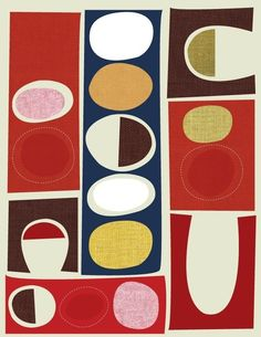 Retro inspired for my textiles project based on the school production. Graphic Patterns, Textile Patterns, Textile Prints, Textile Design, Print Patterns, Modern Patterns, Mid Century Modern Art, Mid Century Art, Retro Fabric