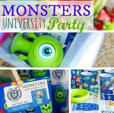 Monsters University party idea
