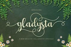 Gladysta Script (30%Off) by vanroem on @creativemarket