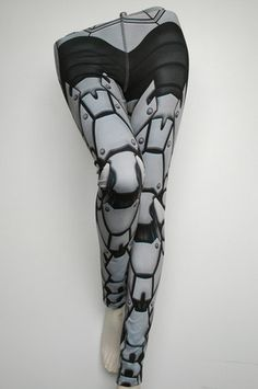 Bionic Leggings - Size XS Light Grey - Printed Robot Tights (CA$79.00) - Svpply