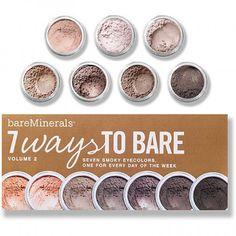 7 ways to Bare - BareMinerals, de mooiste minerale oogschaduw die ik ken! Verkrijgbaar bij usa-shop.nl