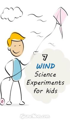 7 fun wind science experiments that are easy to do at home with kids. Cool STEM activity for kids from preschool to kindergarten to school age.