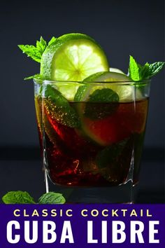 The Cuba Libre cocktail isn't just rum and Coke, it also comes with a fascinating history. You'd be surprised who named this drink and why this cocktail with rum, Coke and lime is still popular when you travel to Cuba. #cuba #travel #rum #cocktail #drink #cubalibre #rumandcoke #lime #classic #recipe Cuba Libre Cocktail, Around The World Food, Visit Cuba, Magic Recipe, Classic Recipe, Cuba Travel, Classic Cocktails, Original Recipe, Cocktail Drinks