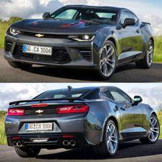 Chevrolet Camaro 2017 Esta é a versão europeia do muscle car americano com opção de motor 2.0 turbo de 275 cavalos e 400 Nm de torque. Esse conjunto faz de 0 a 100 km/h em menos de 6s. Além disso a @chevrolet oferece o mais poderoso Camaro já até hoje feito com o V8 6.2 LT1 Small bock com 453 cavalos e 617 Nmw de torque. Nessa versão o esportivo vem com Controle de largada suspensão adaptativa e sistema de ativação de cilindro on-demand que torna o carro 25% mais econômico que a geração…