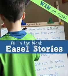 Fill in the blank stories. Simple literacy ( reading and writing) for kindergarten/1st grade. Also enter to WIN an easel from Melissa & Doug!