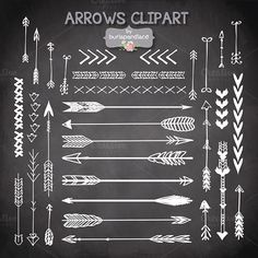 Check out VECTOR Hand Drawn clipart arrows by burlapandlace on Creative Market