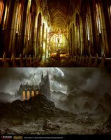 Dark Cathedral Interior/Outdoor by daRoz