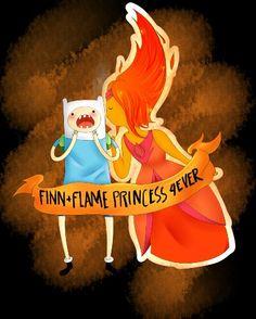 Adventure Time - Finn and Flame Princess.