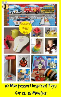 Montessori Inspired Toys for 12-16 months
