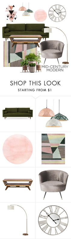 """""""cozy & style"""" by freshdee ❤ liked on Polyvore featuring interior, interiors, interior design, home, home decor, interior decorating, Joybird, MODERNCRE8VE and Safavieh"""