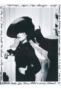 Tallulah Ormsby-Gore wearing a Chanel hat from 1913 - Karl Lagerfeld's Silent Tribute to Coco Chanel - 2008