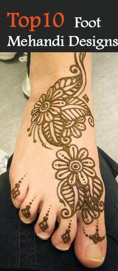 Best Foot Mehandi Designs