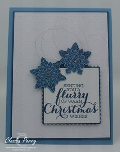Stamping in Columbus, GA: A Sketch and some snowflakes