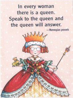 Speak to the queen