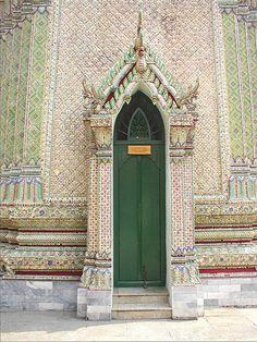 Mosaic doorway, Royal Palace, Bangkok, Thailand by oooh mrs, via Flickr