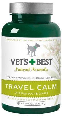 DOG HEALTH - BEHAVIOR AIDS - VET'S BEST TRAVEL CALM - 40 TAB - BRAMTON COMPANY - UPC: 31658101214 - DEPT: DOG PRODUCTS
